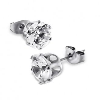 """Náušnice z chirurgické oceli s krystaly """"Caitrya"""""""